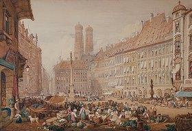 Samuel Prout: Der Schrannenplatz in München