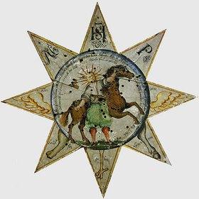 Unbekannter Künstler: Stern- oder Sonnenscheibe (Zielscheibe)