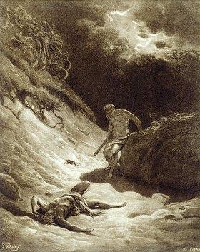 Gustave Doré: Kain erschlägt Abel
