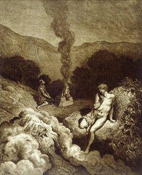 Gustave Doré: Kain und Abel bringen ein Opfer dar