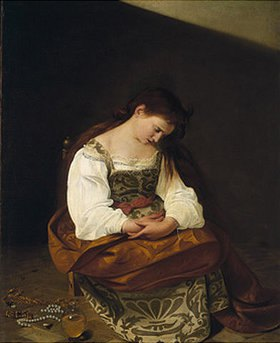 Michelangelo Merisi da Caravaggio: Die reuige Maria Magdalena