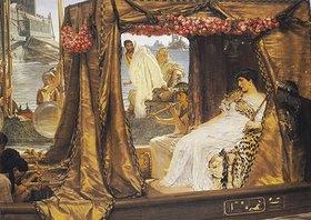 Sir Lawrence Alma-Tadema: Die Begegnung von Antonius und Kleopatra
