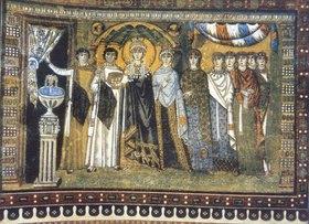 Unbekannter Künstler: Die Kaiserin Theodora und ihr Gefolge