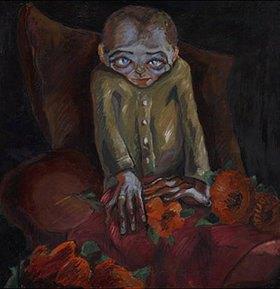 Walter Gramatté: Der Kranke mit den Blumen