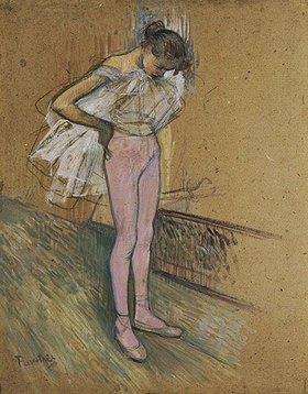 Henri de Toulouse-Lautrec: Tänzerin, ihr Trikot richtend