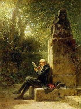 Carl Spitzweg: Der Philosoph (Der Leser im Park)