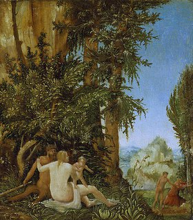 Albrecht Altdorfer: Landschaft mit Satyrfamilie