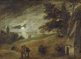 Adriaen Brouwer: Dünenlandschaft im Mondschein