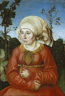 Lucas Cranach d.Ä.: Frau eines Rechtsgelehrten, Bildnis
