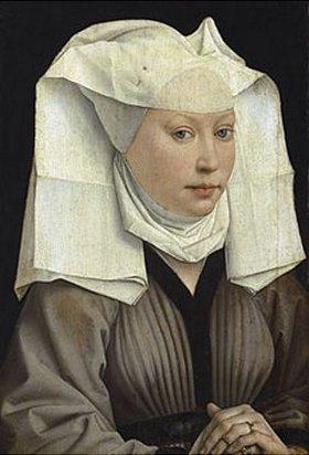 Rogier van der Weyden: Bildnis einer Frau mit Flügelhaube