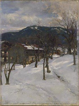 Johann Sperl: Winterlandschaft bei Kuttering