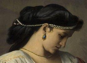 Anselm Feuerbach: Medea (Detail: Kopf der Medea)