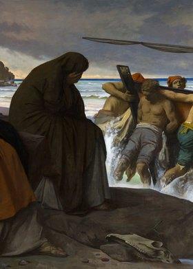 Anselm Feuerbach: Medea (Detail: Trauernde)