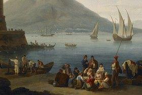 Jacob Philipp Hackert: Hafen von Neapel (Detail)