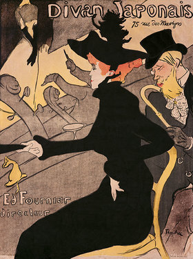 Henri de Toulouse-Lautrec: Plakat Divan Japonais, 75 Rue des Martyres