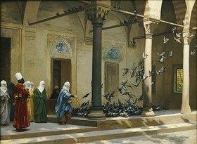 Jean-Léon Gérome: Haremsdamen beim Tauben füttern