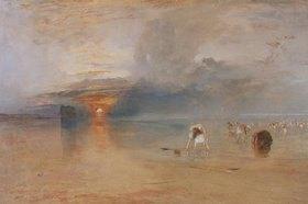Joseph Mallord William Turner: Strand bei Calais, Fischerfrauen sammeln Köder ein