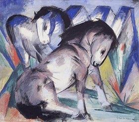 Franz Marc: Zwei Pferde