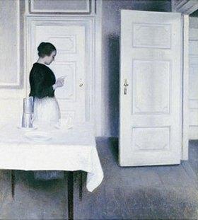 Vilhelm Hammershoi: Interieur mit lesender Frau, Strandgade