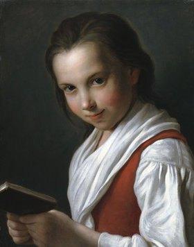 Pietro Antonio Rotari: Junges Mädchen in einer roten Weste, ein Buch haltend