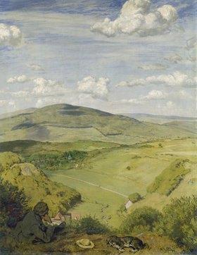 Hans Thoma: Taunuslandschaft (Blick in ein Taunus- tal)