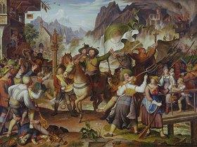 Joseph Anton Koch: Tiroler Landsturm - 1809. In der Mitte: Andreas Hofer, Anführer des Tiroler Widerstands gegen Napoleon