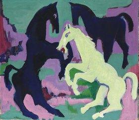 Ernst Ludwig Kirchner: Drei Pferde