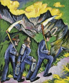 Ernst Ludwig Kirchner: Alpleben (Seitentafel eines Triptychons)