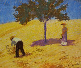 August Macke: Baum im Kornfeld