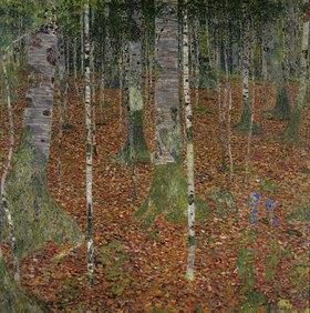 Gustav Klimt: Birkenwald