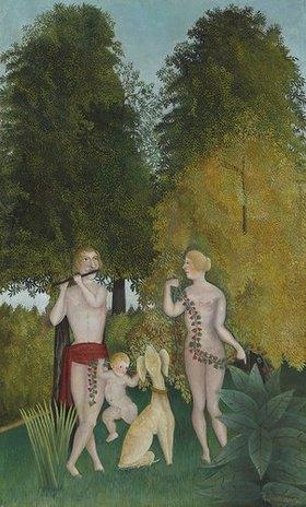 Henri Rousseau: Glückliches Quartett (Heureux quatuor)