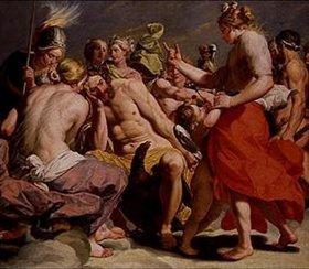 Abraham Janssens van Nuyssen: Der Olymp. Venus verteidigt sich vor dem Göttervater Zeus gegen Heras Anklage