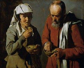 Georges de La Tour: Erbsen essendes Bauernpaar