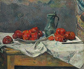 Paul Gauguin: Stillleben mit Tomaten (Nature morte aux tomates)