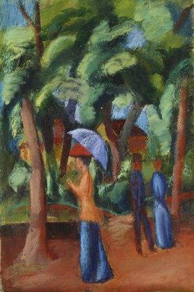 August Macke: Spaziergang im Park
