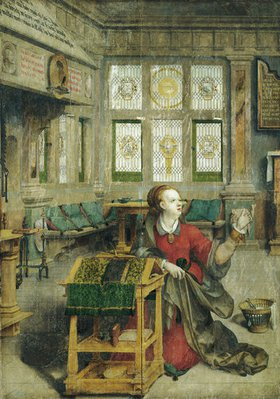 Hermann tom Ring: Überwasserkirche Münster: Hochaltar, Maria aus der Verkündigung. Vor