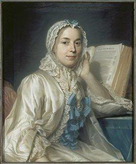 Maurice Quentin de La Tour: Mademoiselle Ferrand meditiert über Newton