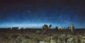 Eugen Bracht: Mondnacht in der Wüste