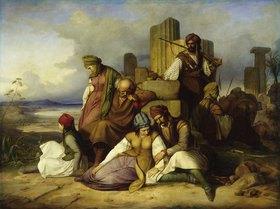 Adolf Friedrich Teichs: Gefangene Griechen von Mamelucken bewacht