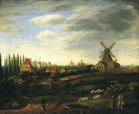 Unbekannter Künstler: Ansicht der Stadt Münster von Südwesten