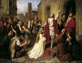 Johann Carl Baehr (Baer): Die Wiedertäufer (Johann van Leyden tauft ein Mädchen)