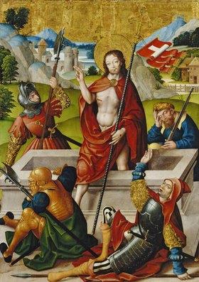 Jan Baegert: Altar aus der Kirchspielkirche in Liesborn: Auferstehung Christi