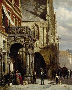 Cornelius Springer: Stadtwache und Rathaus in Münster
