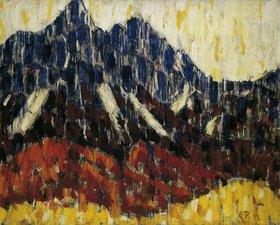 Christian Rohlfs: Gebirge mit Lärchenwald