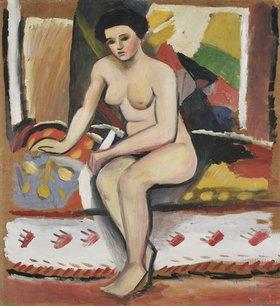 August Macke: Sitzender weiblicher Akt