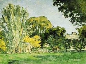 Paul Cézanne: Bäume im Park von Jas de Bouffan