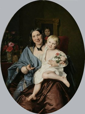 Ferdinand Georg Waldmüller: Frau mit Kind/Unbekannte Dame mit einem Kinde