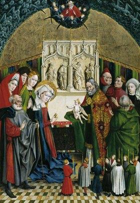 Johann Koerbecke: Marienfelder Altar: Darbringung Christi im Tempel