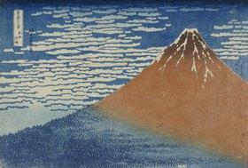Katsushika Hokusai: Leichter Wind, klares Wetter. Aus der Serie: 36 Ansichten des Berges Fuji