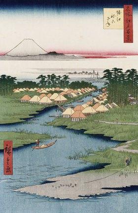 Ando Hiroshige: Nekozane bei Horikiri. Aus der Serie: Hundert Ansichten von berühmten Orten in Edo